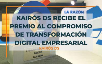 Kairós DS recibe el premio al Compromiso de Transformación Digital Empresarial