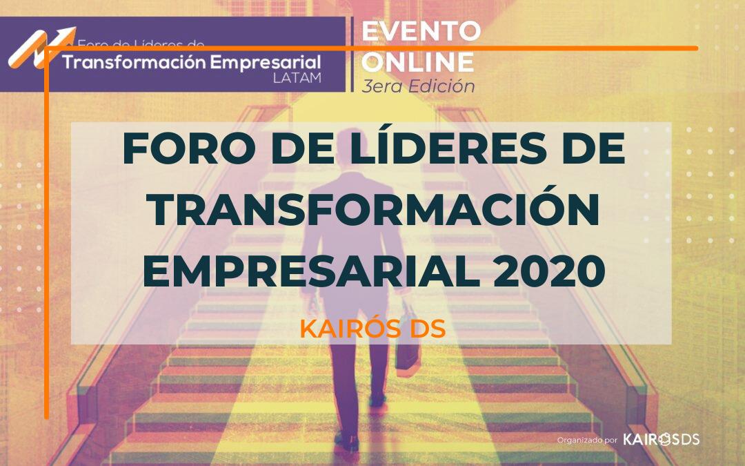 Post Foro de Líderes de transformación empresarial 2020